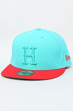The Vintage H New Era Cap in Teal & Red