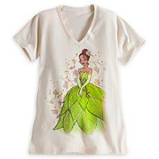 Tiana Tee for Women - Disney Fairytale Designer Collection Disney Princess Shirts, Princess Tiana, Disney Dresses, Disney Outfits, Disney Clothes, Disney Fashion, Tees For Women, Clothes For Women, Disney Couture