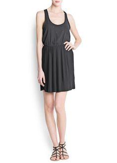 MANGO - Crystals chiffon dress