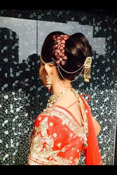 Hair do with ethnic outfit