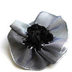 French Ribbon Flowered Hair Clip by OmaDesigns on Etsy