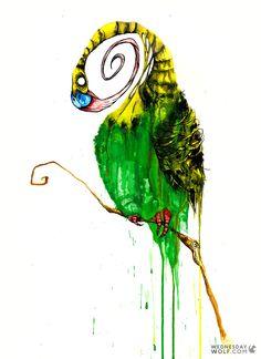 Spirochete Watercolours, Wolf, Bee, Painting, Animals, Honey Bees, Animales, Animaux, Painting Art