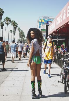 i cant believe shes wearing this outfit outside...but her hair is the bomb.com