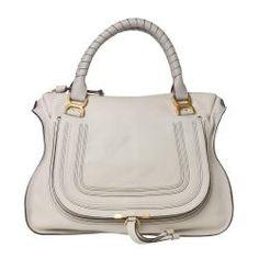 82907dc7ec  Overstock - This designer Marcie shoulder bag by Chloe features a  horseshoe shape in subtle