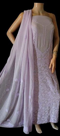 Most Loved Online Chikankari Store Lucknowi Kurta, Purple Fabric, Ethnic Dress, Georgette Sarees, Salwar Suits, Pure Products, Clothes For Women, Kurtis, Formal Dresses