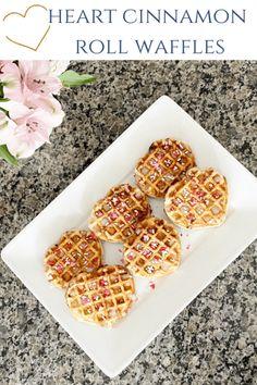 Cinnamon Roll Heart Waffles - Leah With Love