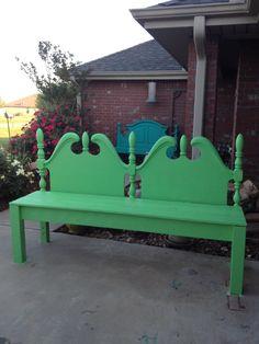 Headboard bench  Neat recycle upcycle idea!