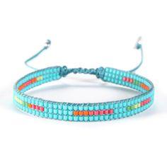 Bracelet, jewelry TRACK CORAL Diy Bracelets And Anklets, Bead Loom Bracelets, Beaded Wrap Bracelets, Handmade Bracelets, Bead Loom Patterns, Bracelet Patterns, Seed Bead Jewelry, Beaded Jewelry, Summer Jewelry