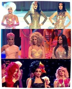 Rupaul's Drag Race Top Three Season 5 and I've noticed that all the winners are in the middle. Drag Race Season 4, Alaska Thunderfuck, Jinkx Monsoon, Rupaul Drag Queen, Adore Delano, Queen Photos, Drag Queens, Girls Show, Celebs