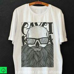 Novidade barbuda, mais uma estampa minha a venda no insta da @ouro.artwear #caveira #ouroboros #artwear #camiseta #tshirt #arte #inspiracao #ilustracao #desenho