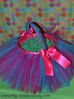 DIY Easter : DIY  make an Easter Tutu Basket