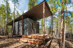 Students of Colorado Building Workshop helped design and build these small prefab cabins: http://humble-homes.com/a-series-of-rustic-cabins-by-colorado-building-workshop/