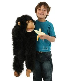 Take a look at this Chimp Oversize Puppet by The Puppet Company on #zulily today! $25 !!