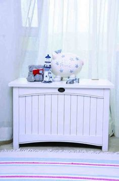 Photo's taken by: Emielke Stylist: Joanita Cillie  For more about this theme, visit yourparenting.co.za Nautical Nursery, Nursery Decor, Get Baby, Storage, Furniture, Home Decor, Purse Storage, Decoration Home, Room Decor