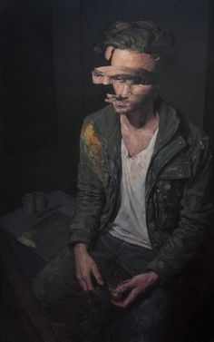 Analysis paralysis by Adam Lupton [Oil on canvas 36 x 48] : Art