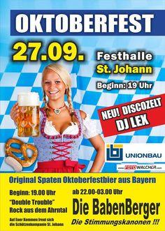 @Die Babenberger #Partyband am Oktoberfest in St Johann Südtirol Party, Dj, Live, Tent Camping, Oktoberfest, Music, Receptions, Direct Sales Party