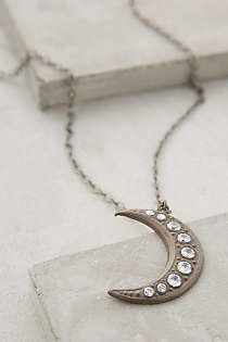 Sparked Crescent Pendant Necklace from Anthropologie