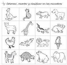 Cositas de AL y PT: Animales salvajes y domésticos para Infantil: