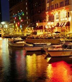 Milwaukee RiverWalk -- Milwaukee's Downtown RiverWalk that runs for 3 miles along the Milwaukee River.