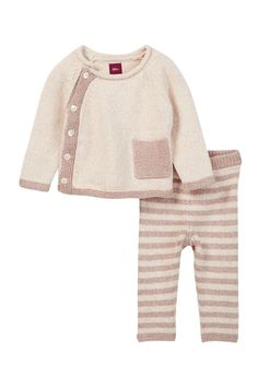 Cerro Bonete Taupe Sweater Outfit (Baby Girls)