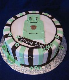 http://cakedecoratingcoursesonline.com/cake-decorating/ bun in the oven baby shower cake. #Create Your Own #Baby #Shower #Cake - Join Unique #Online Cake #Decorating #Courses on http://cakedecoratingcoursesonline.com now!