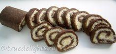 Rulada de biscuiti cu nuca cocos