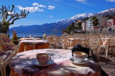 Switzerland, Coffee, and Summer. Paradise.