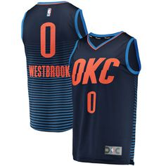 Men s Oklahoma City Thunder Russell Westbrook Fanatics Branded Navy Fast  Break Replica Jersey - Statement Edition 36715d295