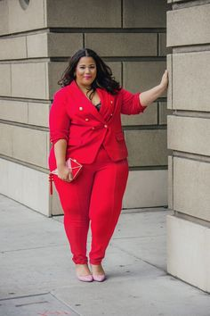 Garnerstyle the curvy girl guide: sweet red plus size fashion in 2019 одежд Plus Size Suits, Look Plus Size, Plus Size Girls, Plus Size Dresses, Plus Size Women, Plus Size Fashion Blog, Plus Size Fashion For Women, Curvy Fashion, Womens Fashion