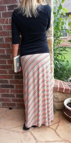 Greenstyle Amy Maxi Skirt EASY Sewing Pattern for Women's Sizes XS to XL with Chevron Option. $8.00, via Etsy.