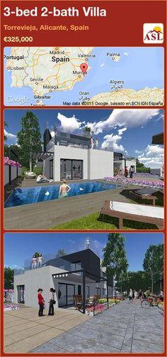 3-bed 2-bath Villa in Torrevieja, Alicante, Spain ►€325,000 #PropertyForSaleInSpain