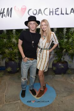 Cody Simpson and Gigi Hadid. See what all the celebs are wearing at Coachella 2015.