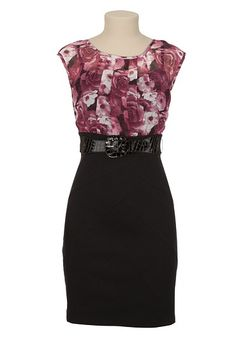 Belted Floral Chiffon 2fer Dress available at #Maurices