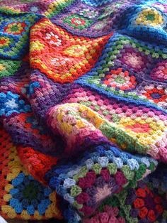 Did I mention I love this blanket? by snippygal, via Flickr Crochet block blanket!