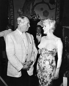 Richard Miller - Marilyn Monroe - 19 November 1958 - in Some Like it Hot - on the set with Maurice Chevalier