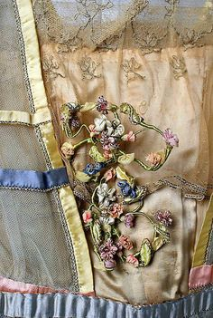 Evening Dress, detail, Lucile, ca. 1916–18, The Metropolitan Museum of Art.