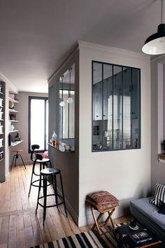 Rénovation d\'un studio de 20 m2 en noir et blanc, paris 18, Agence ...