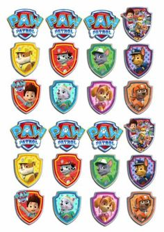Picture 3 of 3 Paw Patrol Cupcake Toppers, Paw Patrol Cupcakes, Paw Patrol Birthday Cake, Paw Patrol Party, Skye Paw Patrol Cake, Paw Patrol Pups, Escudo Paw Patrol, Personajes Paw Patrol, Imprimibles Paw Patrol