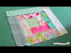 Log Cabin Quilt Tutorial - I like how she uses baggies to organize her scraps.  Very clear tutorial!  Easy quilting.  Be sure to go to her website to see the sizes to cut the strips.