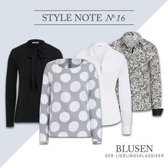 BUGATTI AUTUMN/WINTER 2016/17 I Classic pieces - Rediscovered: Wther if black or classic white, with paisley or dotted...with our new variations of blouses you are totally in style! #bugattifashion #womenswear #blouse