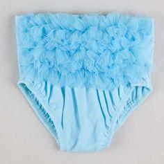 Infant And Toddler Girls Blue Bloomer.