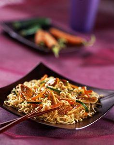 Sauté de poulet et légumes à l'asiatique