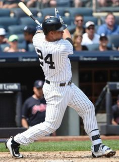 Gary Sanchez broke records in his 23 days debut. I hope the Yankees keep their young players and prospects and… Baseball Playoffs, Baseball Tournament, Baseball Jerseys, Baseball Cap, Yankees Baby, Damn Yankees, New York Yankees, Baby Bomber, Baseball Field Dimensions