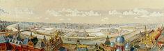 Панорама Замоскворечья с колокольни Ивана Великого. Михаил Петрович Кудрявцев