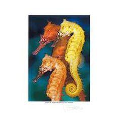 Trio of Seahorses