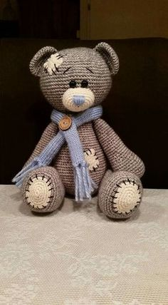 Everyone needs the squeezable love of a cute crochet teddy bear. Here are 10 adorable crochet teddy bear patterns to make as gifts for everyone you know. Crochet Bear Patterns, Crochet Doll Pattern, Amigurumi Patterns, Amigurumi Doll, Crochet Animals, Crochet Dolls, Knitting Patterns, Stuffed Animal Patterns, Stuffed Animals