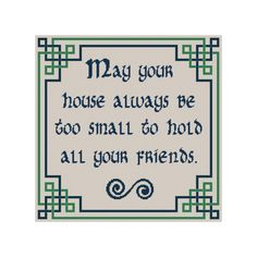 Celtic Cross Stitch Irish Blessing Counted by CowbellCrossStitch