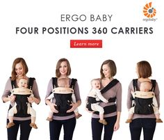 Ergo Baby Four Positions 360 Carriers. #ErgoBaby #BabyCarrier #Ergo360