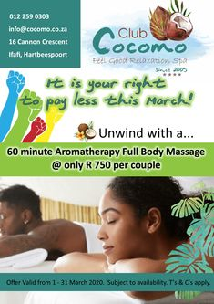 #HumanRights #MarchSpaSpecial Club 16, Spa Specials, Aromatherapy, Feel Good, Massage, Relax, Feelings, Massage Therapy