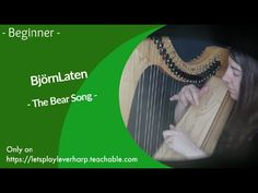 🍀 Harp Sheet Music    Björnlaten - The Bear Song - For 26 Strings harp Piano Music, Sheet Music, Bear Songs, Student Guide, 27 Years Old, Let It Be, Play, Learning, Studying